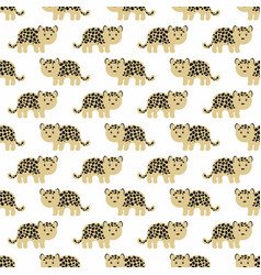 Stylized leopard cartoon style background vector