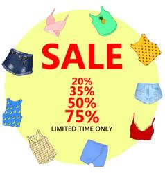 summer sale big discounts flyer template hand vector image