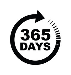 Three hundred and sixty five days a year icon vector