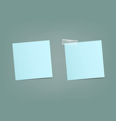 Two sheets of blue stickers for notes vector