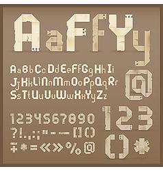 Vintage letter font vector