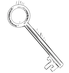Vintage sketch key vector image