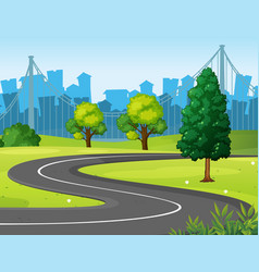 Wavy road in the park vector