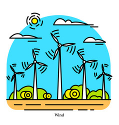 wind power plant powerhouse or electric vector image