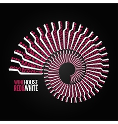 wine bottle concept design background vector image
