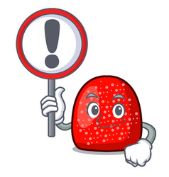 with sign gumdrop character cartoon style vector image