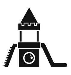Wood kid castle icon simple style vector