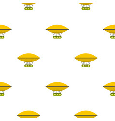 Yellow retro hot air balloon pattern seamless vector