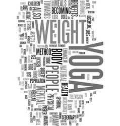 Yoga as a form of weight loss text word cloud vector