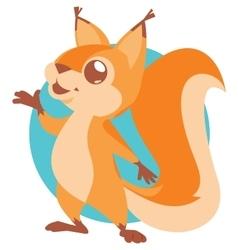 cute squirrel vector image