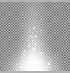 glow sparks effect white color vector image vector image