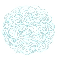 Hand drawn background with linear twirl pattern vector image