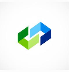 shape ribbon business company logo vector image
