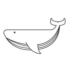 whale big sea icon vector image