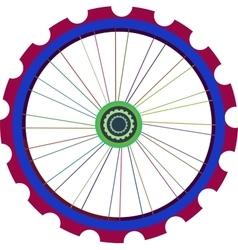 Bicycle wheel isolated on white bike vector image