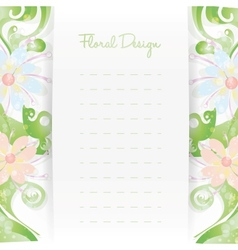 Floral card invitation template Flower design vector image vector image