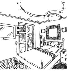 Luxurious bedroom vector image vector image