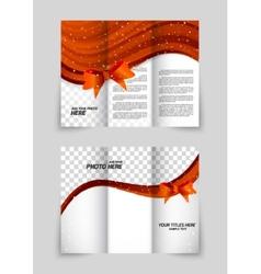 Tri-fold christmas brochure vector image vector image