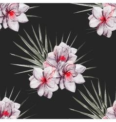 Watercolor tropical flral pattern vector image vector image