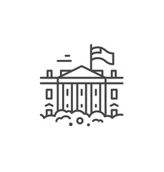 white house line icon vector image