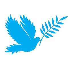 bird dove of peace vector image vector image