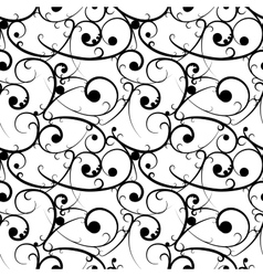 Black baroque seamless pattern in victorian style vector image vector image