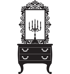 candlestick and mirrow vector image