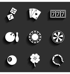 Casino and Gambling Flat Icons vector image vector image