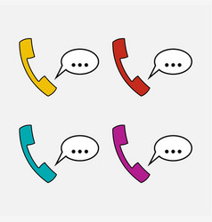 Icons handset communication vector