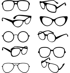 set black of sunglasses frames vector image vector image