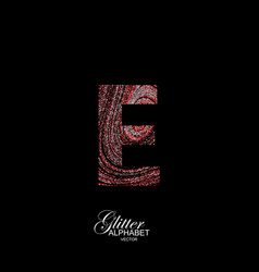 curly textured letter e vector image