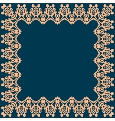 Frame with abstract pattern vector image