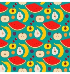 Fruits and berries seamless pattern vector image vector image