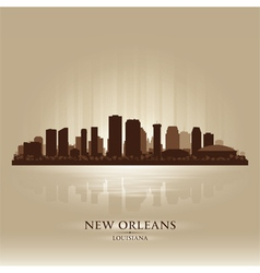 New Orleans Louisiana skyline city silhouette vector image vector image