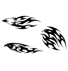 Predator birds tattoos vector image vector image