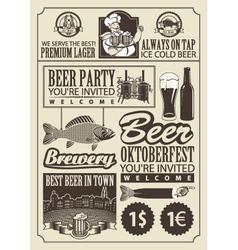 subject of beer vector image vector image