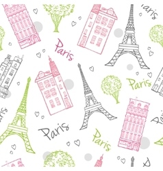 Travel Romantic Paris Streets Seamless vector image vector image