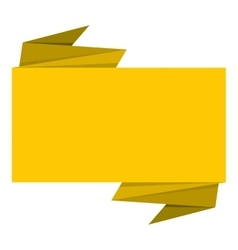 Yellow banner icon flat style vector image vector image