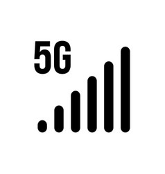 5g signal icon bars network mobile wireless vector image