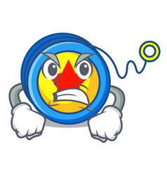 Angry yoyo mascot cartoon style vector