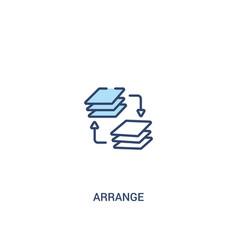 Arrange concept 2 colored icon simple line vector