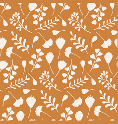 autumn seamless pattern with hand drawn branches vector image