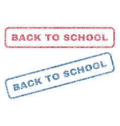 Back to school textile stamps vector