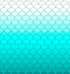 Background Fish scales blue pattern cute vector