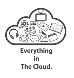 big data icon cloud computing vector image