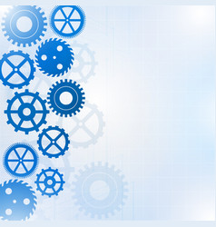 Blue gears on the white background vector