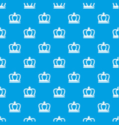 Britain crown pattern seamless blue vector