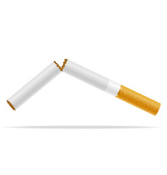 broken cigarette concept no smoke stock vector image