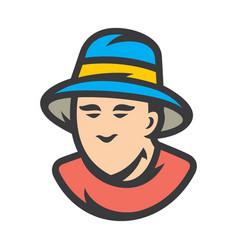 bucket hat men sign vector image