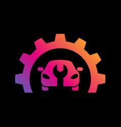 car repair logo template car repairing vector image
